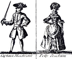 woodcut of Captain Macheath and Polly Peachum