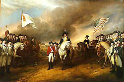 Surrender of Cornwallis at Yorktown, by John Trumbull